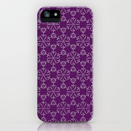 Hexagonal Circles - Elderberry iPhone Case