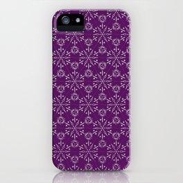 Hexagonal Circles - Elderberry iPhone Case