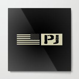 Pararescue (PJ) Black Flag Metal Print