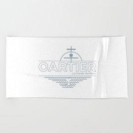 CARTIER - When Explorers Fall In Minimalism Beach Towel