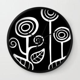 UXUA art's logo in white Wall Clock