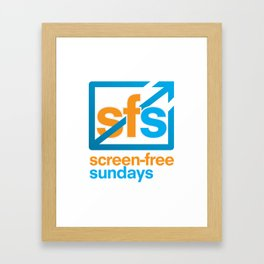 Screen Free Sundays Framed Art Print