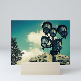 Aqua Lights Mini Art Print