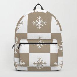 Christmas Snowflakes: Beige Backpack
