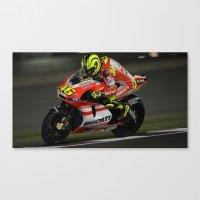ducati Canvas Prints featuring Ducati Bike by creejon
