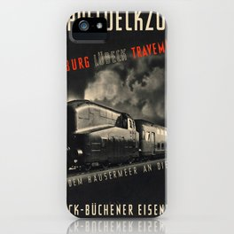 Vintage picture - Doppeldeckzuge iPhone Case