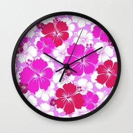 Hawaiian Fuchsia Fun Wall Clock