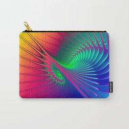 Outburst Spiral Fractal neon colored Carry-All Pouch
