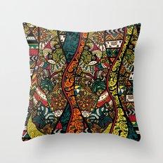 Ethnic Pug Throw Pillow