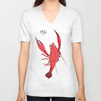 cancer V-neck T-shirts featuring Cancer by Rejdzy