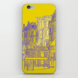 Victorians houses iPhone Skin