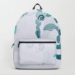 Buddha Head turquoise II Backpack