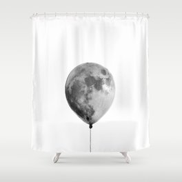 The light side of the moon Shower Curtain