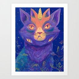 Galactic Kitties: Topaz Art Print