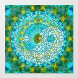 Calming Yin And Yang Art Design - Sharon Cummings Canvas Print