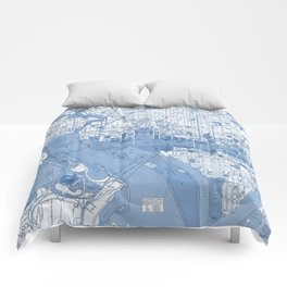 Washington DC Map Comforters