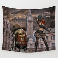 sci fi Wall Tapestries featuring Steampunk Sci-Fi 2 by gypsykissphotography