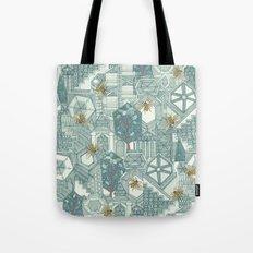 hexagon city Tote Bag