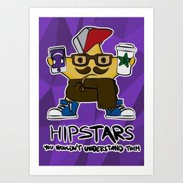 hip STAR Art Print