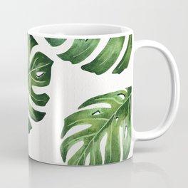 Monstera Pattern Watercolor  Coffee Mug