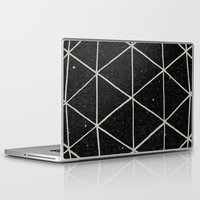 background Laptop & iPad Skins featuring Geodesic by Terry Fan