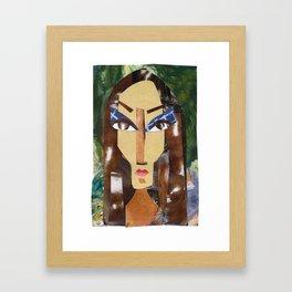 Dark Lady #PrideMonth Collage Portrait Framed Art Print