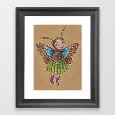 Butterfly Girl Framed Art Print