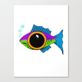 Trippy Dilated Fish Canvas Print