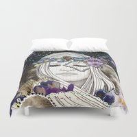 luna Duvet Covers featuring Luna by Jenndalyn