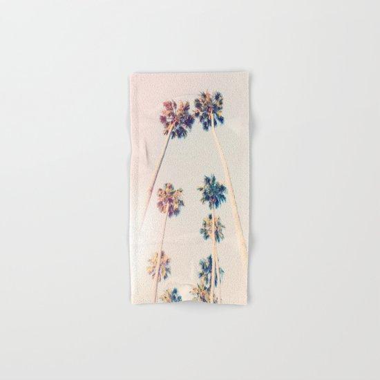 Vintage Pastel Palm trees Hand & Bath Towel