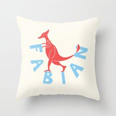 Fabianosaurus Throw Pillow