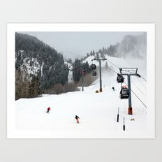 Aspen Mountain Art Print