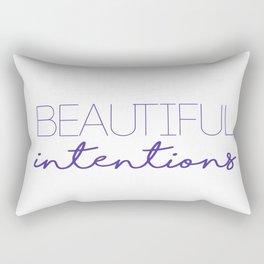 beautiful intentions 2 Rectangular Pillow