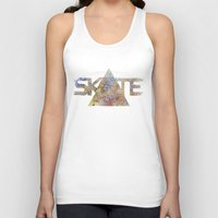 skate Tank Tops featuring SKATE by Novus.