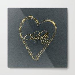 use blackheart Metal Print