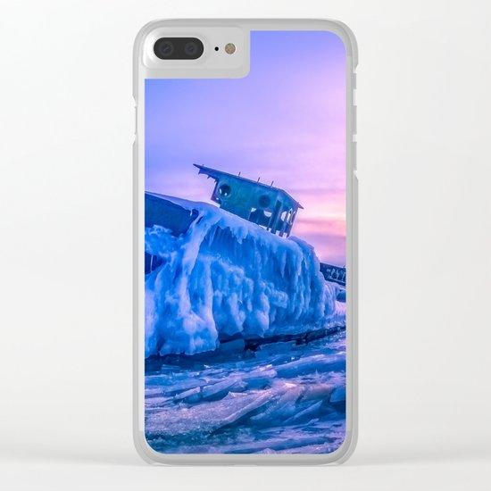 Frozen boat Clear iPhone Case