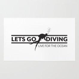 Lets Go Diving Rug