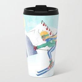 Skiing Girl Travel Mug