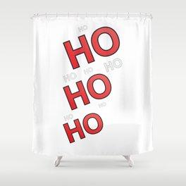 Ho ho ho Christmas design Shower Curtain