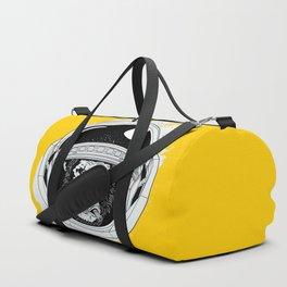 Monkey in white space Duffle Bag
