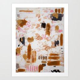 Amber and Pink Art Print