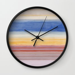 Colorbands Yellowstone Light Pink Wall Clock
