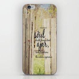 Emily Dickinson Quote Soul Ajar iPhone Skin