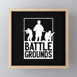 BATTLEGROUNDS ARMY Framed Mini Art Print