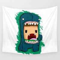 monster Wall Tapestries featuring monster by jeff'walker