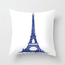 Eiffel Tower Purple Throw Pillow