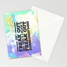Don't Freak Out Stationery Cards