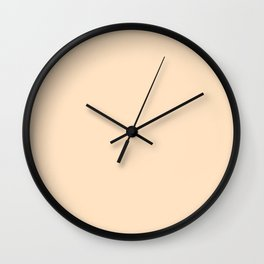 Indigo Evening ~ Peach Froth Wall Clock