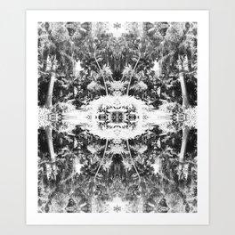 Black n White Boho Pattern Art Print