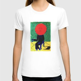 Tomato Face - Abstract Surrealism psychedelic illustration T-shirt